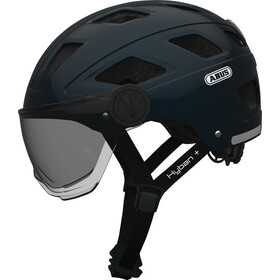 ABUS Hyban+ Casco, midnight blue, smoke visor